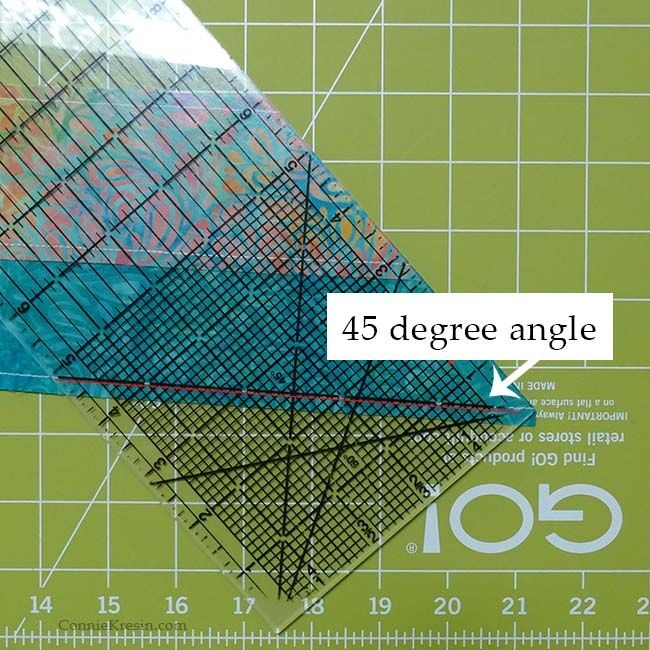 45 degree angle strip tube quilt block tutorial freemotion Quilting 45 Degree Angles