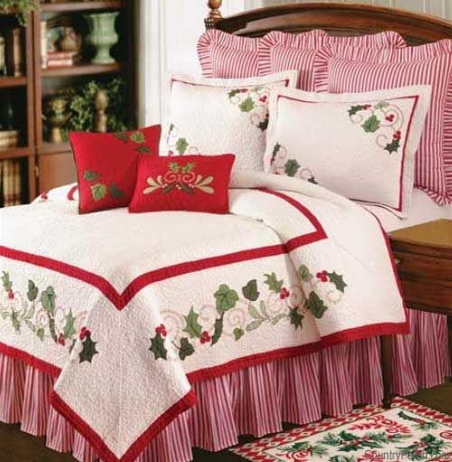 christmas quilts christmas bedding christmas bedroom Christmas Quilt King Size