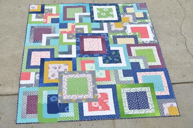 make an incredible square in a square quilt block design Quilting On The Square