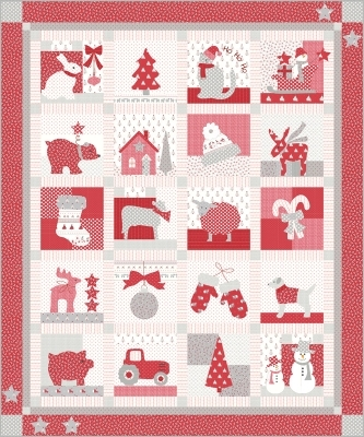 over the rainbow Christmas Quilt 301 Country