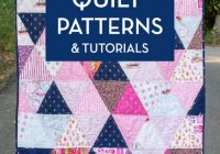 45 easy beginner quilt patterns and free tutorials polka How Much Fabric For Patchwork Quilt