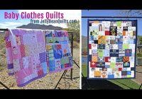 ba clothes quilts get a custom ba clothes quilt from jelly bean quilts Patchwork Quilt With Baby Clothes