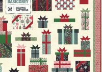 boxes and bows quilt pattern christmas presents quilt pattern holiday gifts throw quilt basicgrey bg pat016 Christmas Gift Quilt Pattern