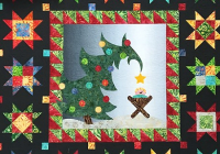 display this festive quilt every christmas season quilting Christmas Quilt Wall Hanging Patterns