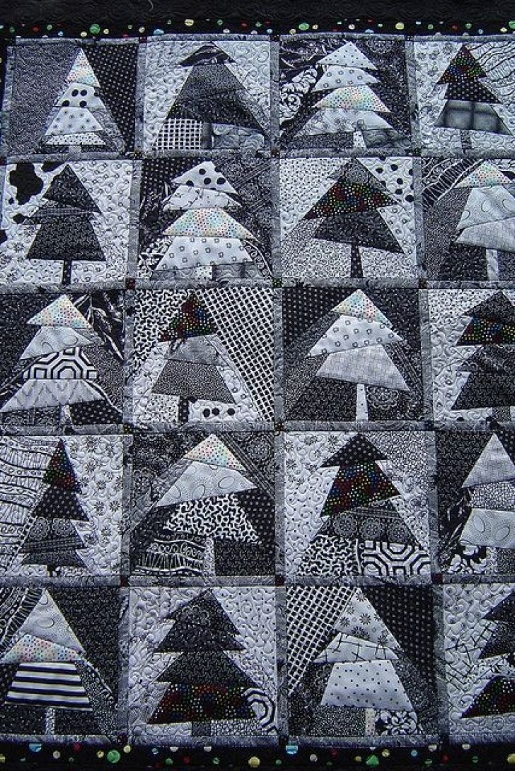 Permalink to 11 Perfect Christmas Tree Quilt Black And White