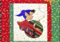 easy and adorable wall hanging for christmas elf painting Christmas Elf Quilt Patterns