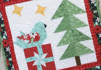 enjoy this festive little quilt every christmas quilting Friends For Christmas Quilt Pattern