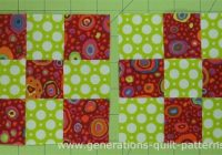 making nine patch quilt blocks is as easy using just two Quilt Patterns Using 9 Inch Squares