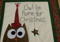 owl be home for christmas quilt kit bloomin minds Home For Christmas Quilt
