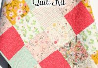 patchwork quilt kit cactus girl floral nursery bedding simple easy beginner diy do it yourselfquilt to make yourself trendy succulents Patchwork Quilt Kits For Beginners