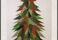 quilt inspiration triangulation Christmas Tree Quilt Black And White