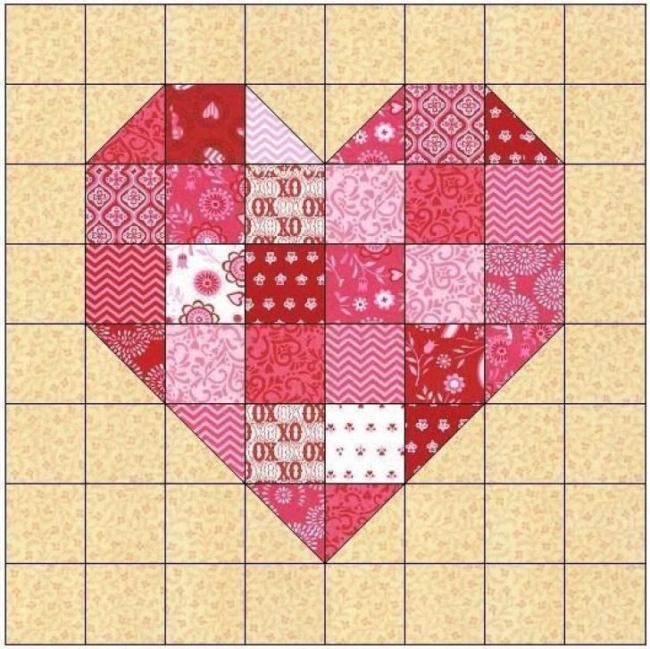 Permalink to 11 Perfect Quilt Pattern Hearts Ideas