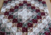 the easiest trip around the world heres the layout Near Sewing Quilt Pattern