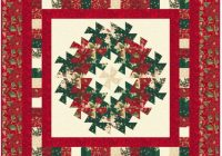 wreath and garland wall quilt pattern Christmas Quilt Wall Hanging Patterns